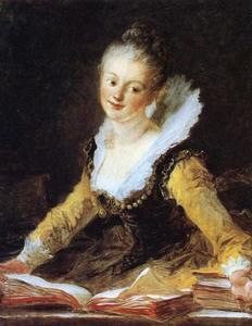 Jean-Honoré Fragonard - Portrait of a Girl