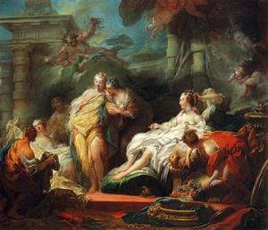 Jean-Honoré Fragonard - Psyche Showing Her Sisters Her Gifts from Cupid