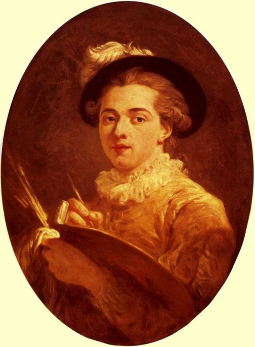 Self-Portrait by Jean-Honoré Fragonard (1732-1806, France) | Museum Quality Reproductions | WahooArt.com