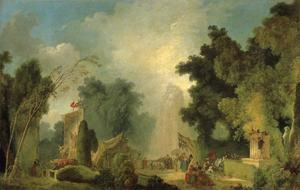 Jean-Honoré Fragonard - The Fair at Saint-Cloud