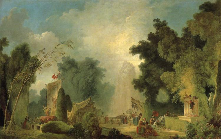 The Fair at Saint-Cloud by Jean-Honoré Fragonard (1732-1806, France) | Museum Quality Reproductions | WahooArt.com