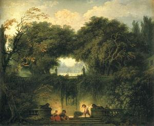 Jean-Honoré Fragonard - The Gardens of the Villa d -Este at Tivoli