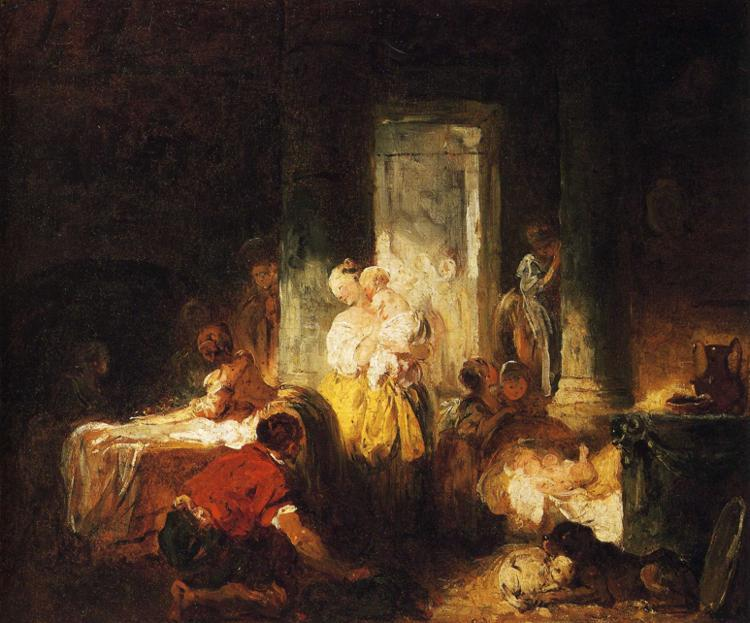 Order Oil Painting : The Italian Family by Jean-Honoré Fragonard (1732-1806, France) | WahooArt.com