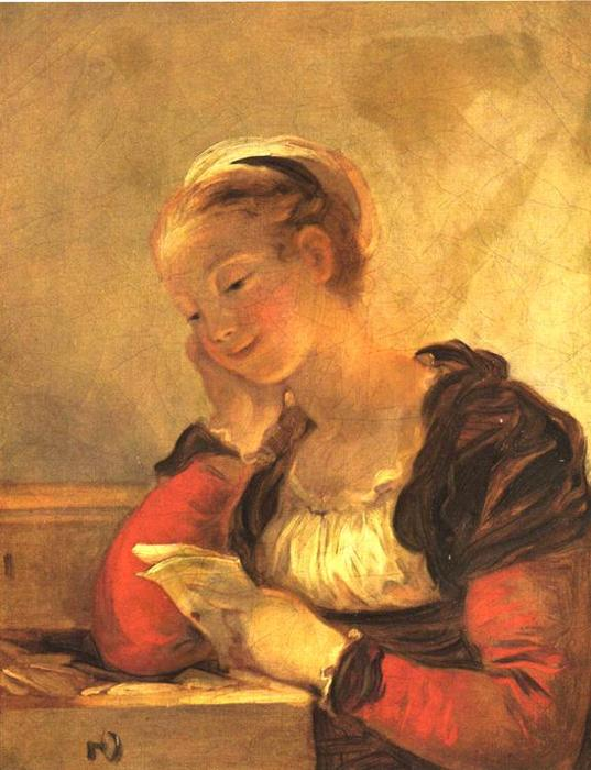 Buy Museum Art Reproductions | The Letter by Jean-Honoré Fragonard (1732-1806, France) | WahooArt.com