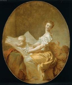 Jean-Honoré Fragonard - The mother and the children