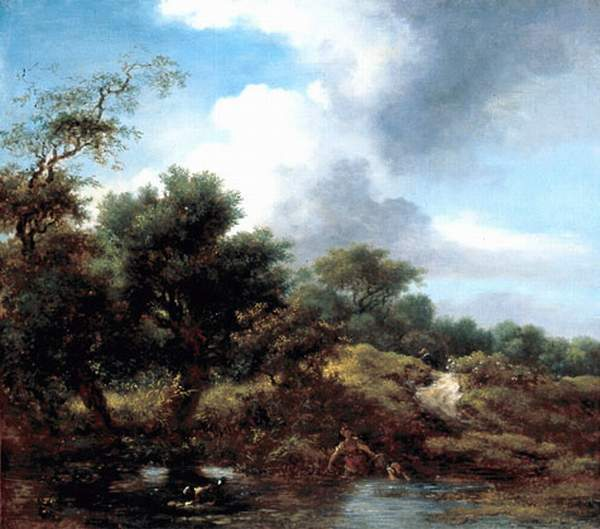 The Pond by Jean-Honoré Fragonard (1732-1806, France) | Famous Paintings Reproductions | WahooArt.com