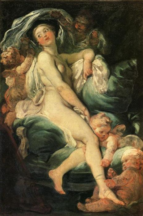 The Toilet of Venus by Jean-Honoré Fragonard (1732-1806, France) | Museum Quality Reproductions | WahooArt.com
