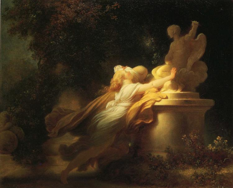 The Vow to Love by Jean-Honoré Fragonard (1732-1806, France) | Museum Quality Reproductions | WahooArt.com