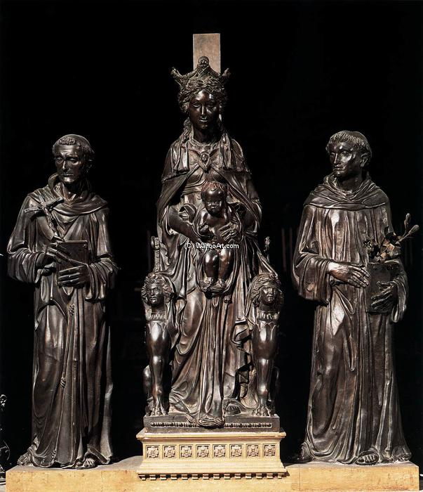 Madonna and Child between St Francis and St Anthony, 1448 by Donatello (1386-1466, Italy) | WahooArt.com