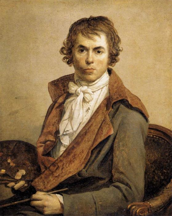 Portrait of the Artist by Jacques Louis David (1748-1800, France) | Painting Copy | WahooArt.com