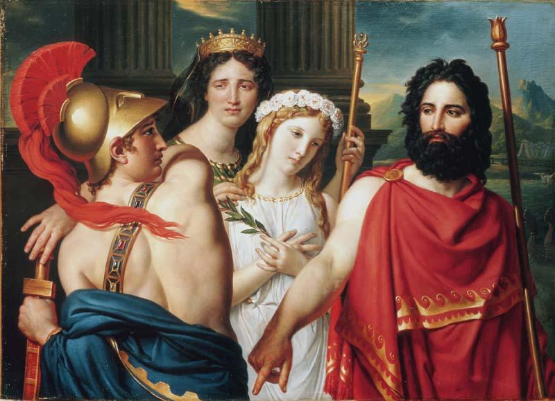 Order Paintings Reproductions | The Anger of Achilles, 1819 by Jacques Louis David (1748-1800, France) | WahooArt.com