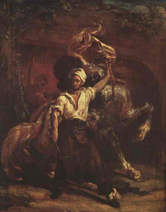 The Blacksmith's Signboard, Oil by Jean-Louis André Théodore Géricault (1791-1824, France)