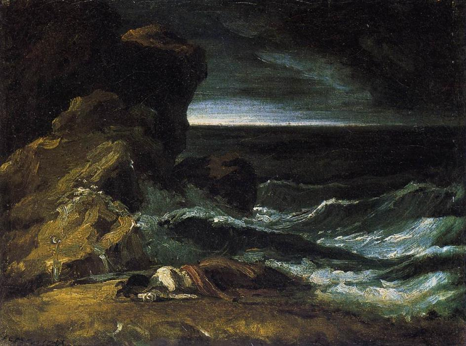 The Wreck, Oil On Canvas by Jean-Louis André Théodore Géricault (1791-1824, France)