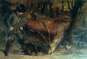 Gustave Courbet - The German Huntsman