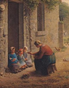 Jean-François Millet - Feeding the Young
