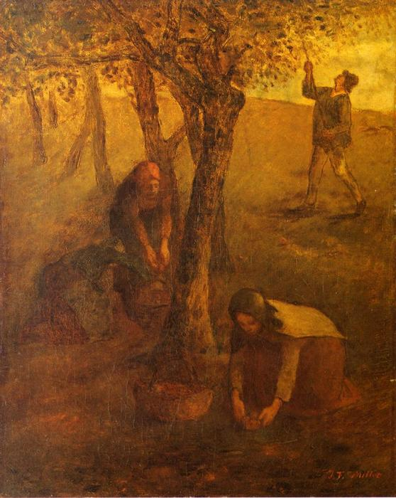 Gathering Apples by Jean-François Millet (1814-1875, France) | Oil Painting | WahooArt.com