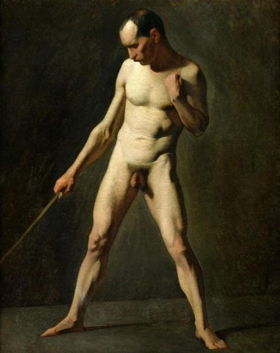 Nude Study by Jean-François Millet (1814-1875, France) | Art Reproduction | WahooArt.com