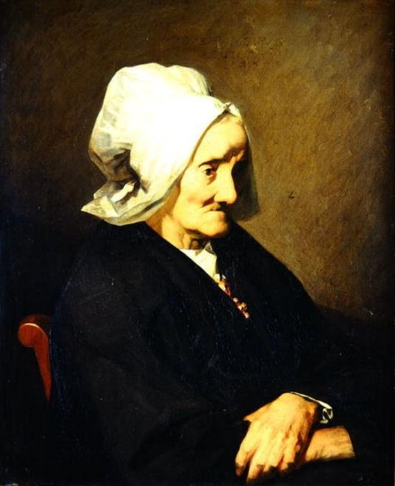 Portrait of the Widow Roumy by Jean-François Millet (1814-1875, France) | Oil Painting | WahooArt.com