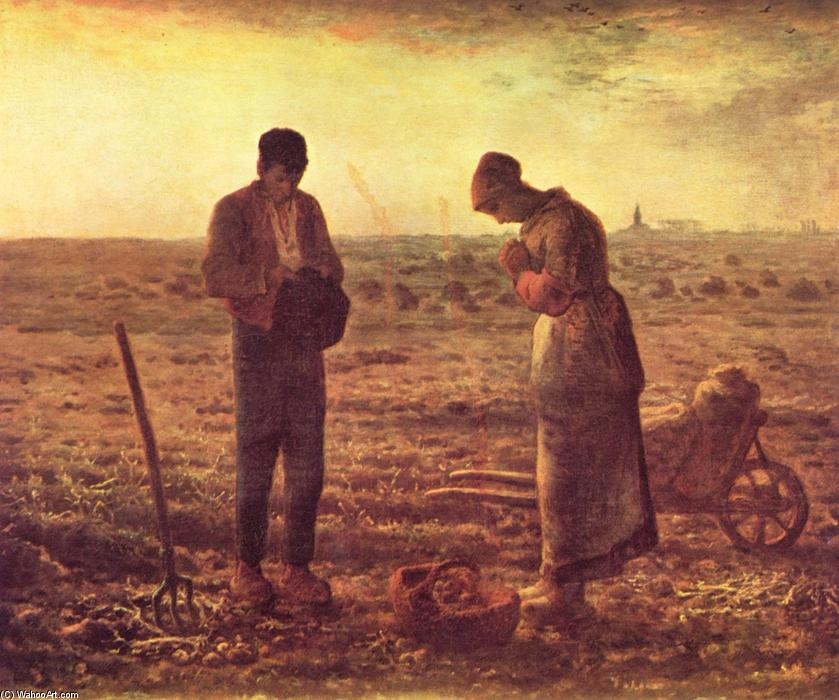 The Angelus, Oil On Canvas by Jean-François Millet (1814-1875, France)