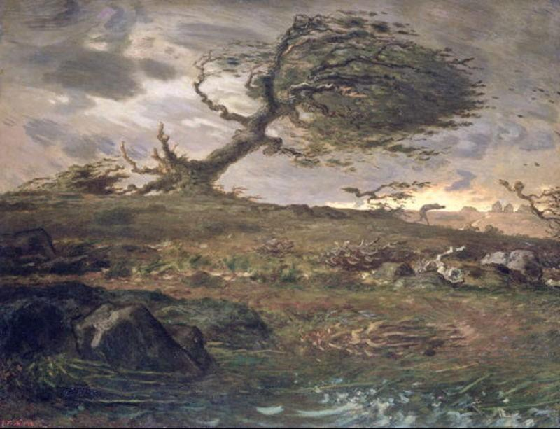 The Gust of Wind by Jean-François Millet (1814-1875, France) | Art Reproduction | WahooArt.com