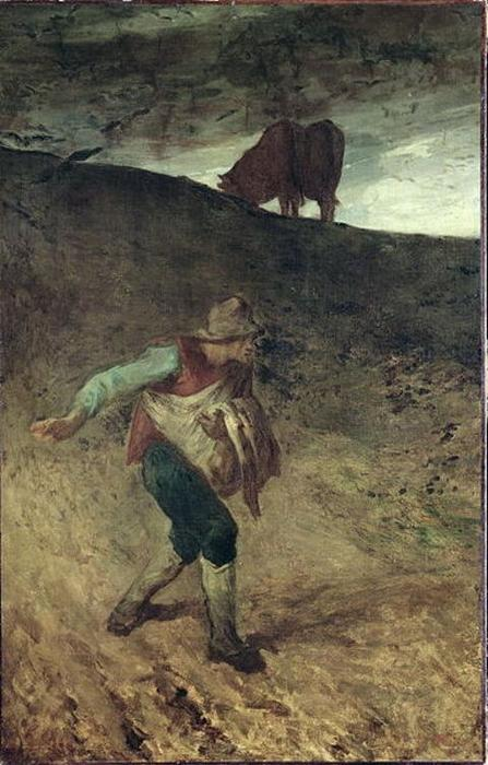 The Sower1 by Jean-François Millet (1814-1875, France) | Oil Painting | WahooArt.com