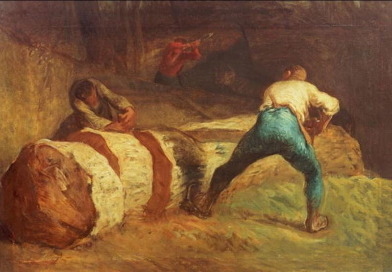 The Wood Sawyers by Jean-François Millet (1814-1875, France) | Painting Copy | WahooArt.com