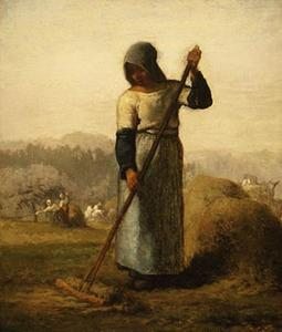 Jean-François Millet - Woman with a rake