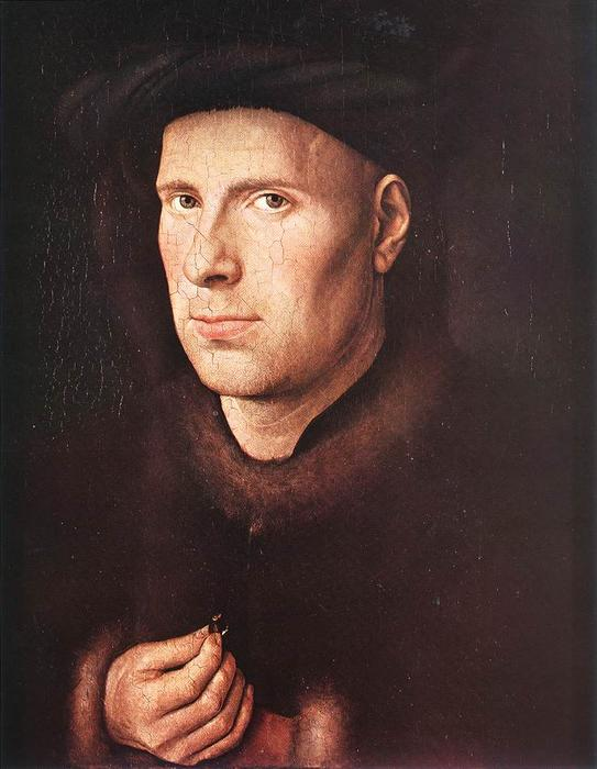 Portrait of Jan de Leeuw, Oil by Jan Van Eyck (1395-1441, Netherlands)