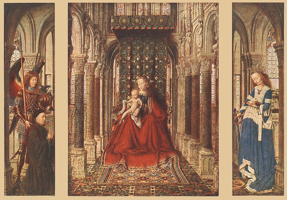 Small Triptych1, Oil by Jan Van Eyck (1390-1441, Netherlands)