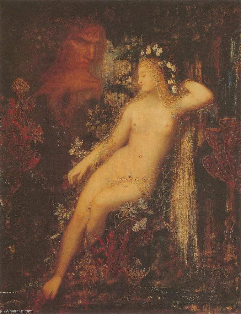 Galatée, Oil by Gustave Moreau (1826-1898, France)