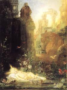 Gustave Moreau - Moses by the Nile
