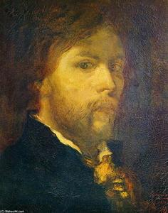 Self-Portrait, Oil On Canvas by Gustave Moreau  (order Fine Art painting copy Gustave Moreau)