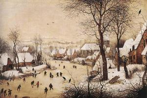 Pieter Bruegel The Elder - Winter Landscape with Skaters and Bird Trap