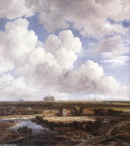 Jacob Isaakszoon Van Ruisdael (Ruysdael) - View of Haarlem with Bleaching Grounds