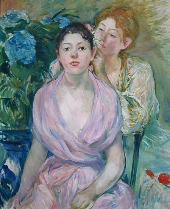 L`hortensia by Berthe Morisot (1841-1895, France) | Oil Painting | WahooArt.com