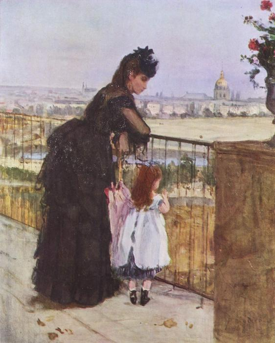 On the Balcony by Berthe Morisot (1841-1895, France) | Museum Quality Reproductions | WahooArt.com