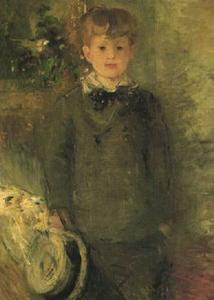 Berthe Morisot - Portrait of Marcel Gobillard (Little Boy in Gray)
