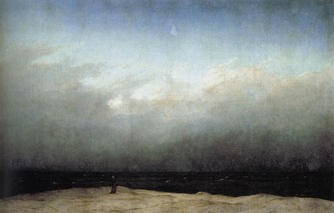 Monk by the Sea, Oil On Canvas by Caspar David Friedrich (1774-1840, Germany)