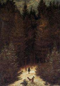 Caspar David Friedrich - The Chasseur in the Forest