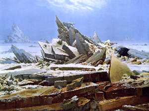 The Sea of Ice, Oil On Canvas by Caspar David Friedrich  (buy Fine Art Framed Print Caspar David Friedrich)