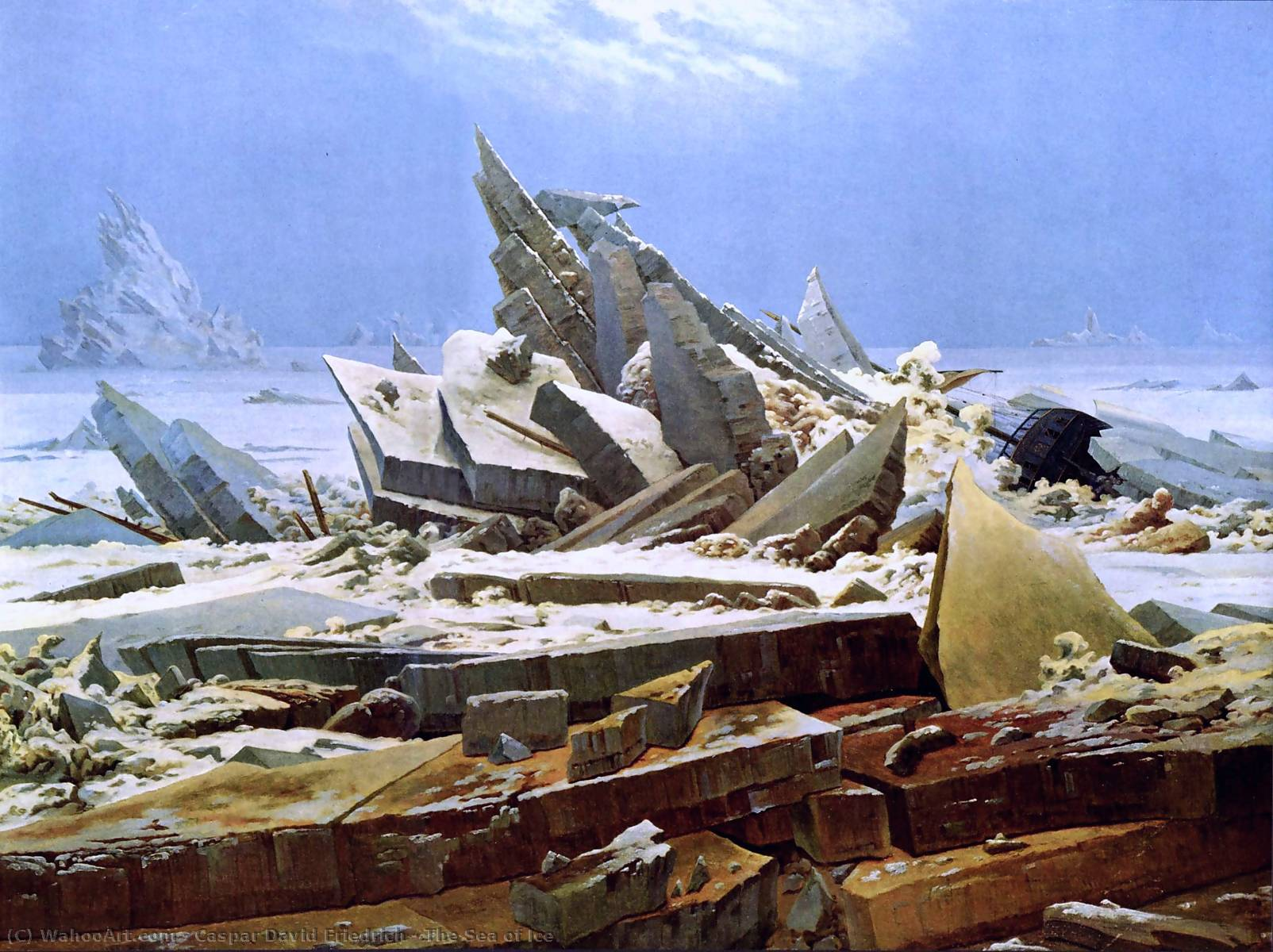 Order Famous Paintings Reproductions : The Sea of Ice, 1824 by Caspar David Friedrich (1774-1840, Germany) | WahooArt.com