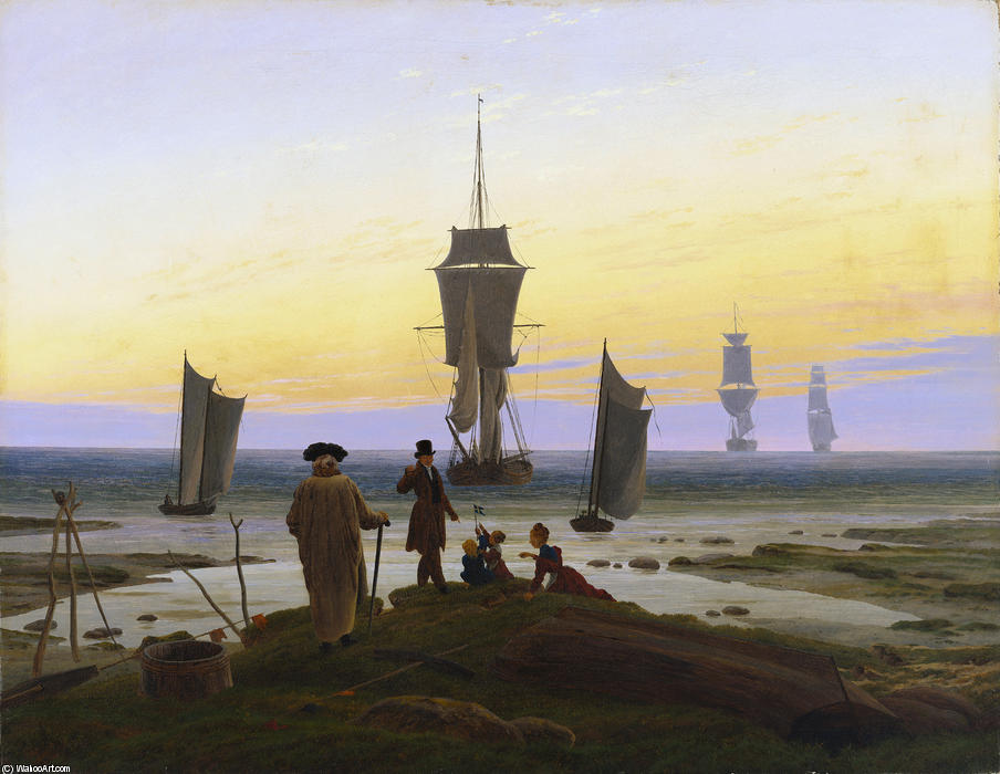 The Stages of Life (Die Lebensstufen) by Caspar David Friedrich (1774-1840, Germany) | Famous Paintings Reproductions | WahooArt.com