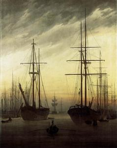 Caspar David Friedrich - View of a Harbour