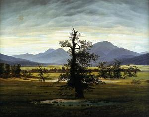 Caspar David Friedrich - Village Landscape in Morning Light (The Lone Tree)