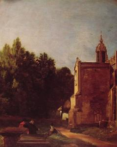 John Constable - A Church Porch