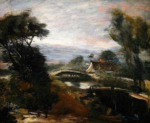 John Constable - A View near Flatford Mill