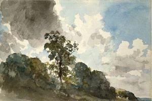 John Constable - Clouds study with trees