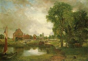 John Constable - Dedham Lock and Mill1