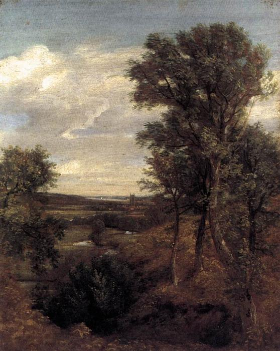 Dedham Vale, Oil by John Constable (1776-1837, United Kingdom)