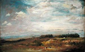 John Constable - Hampstead Heath with Bathers